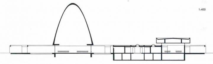 Section plan, Vatiala Chapel