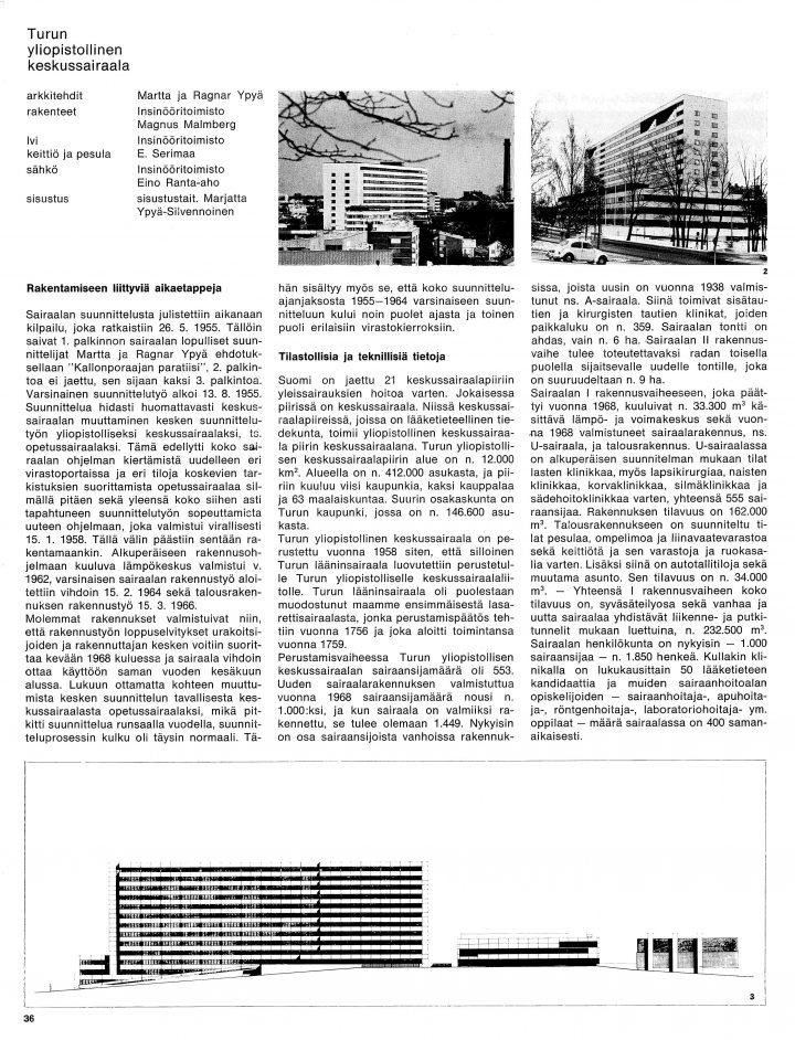 Perspective plan, Turku University Hospital, U Hospital