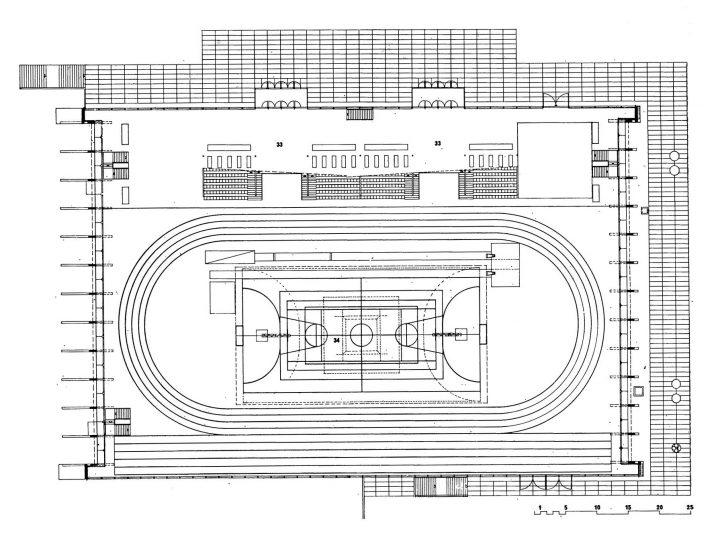 Floor plan of the 1st floor, Kupittaa Sports Hall