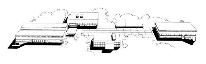 Perspective drawing, Vekaranjärvi Garrison Centre
