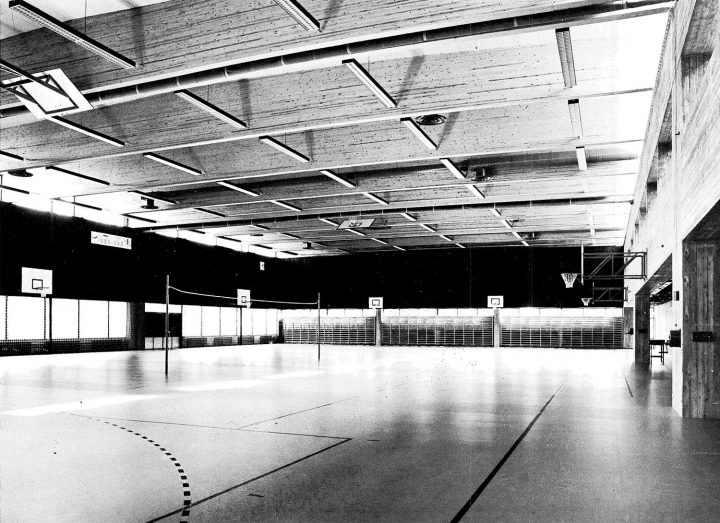 Interior of the gym, Vekaranjärvi Garrison Centre