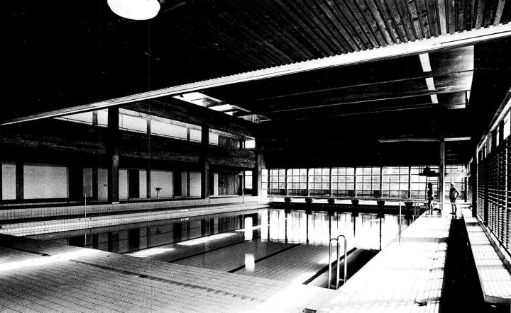 Sports centre swimming hall, Vekaranjärvi Garrison Centre