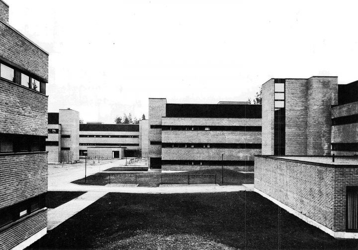 Deparment of chemistry, inner courtyard, University of Joensuu