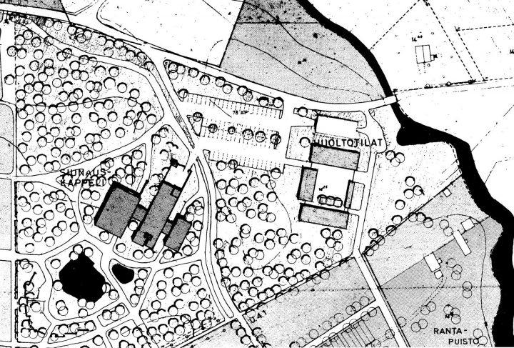 Site plan, Törnävä Funerary Chapel
