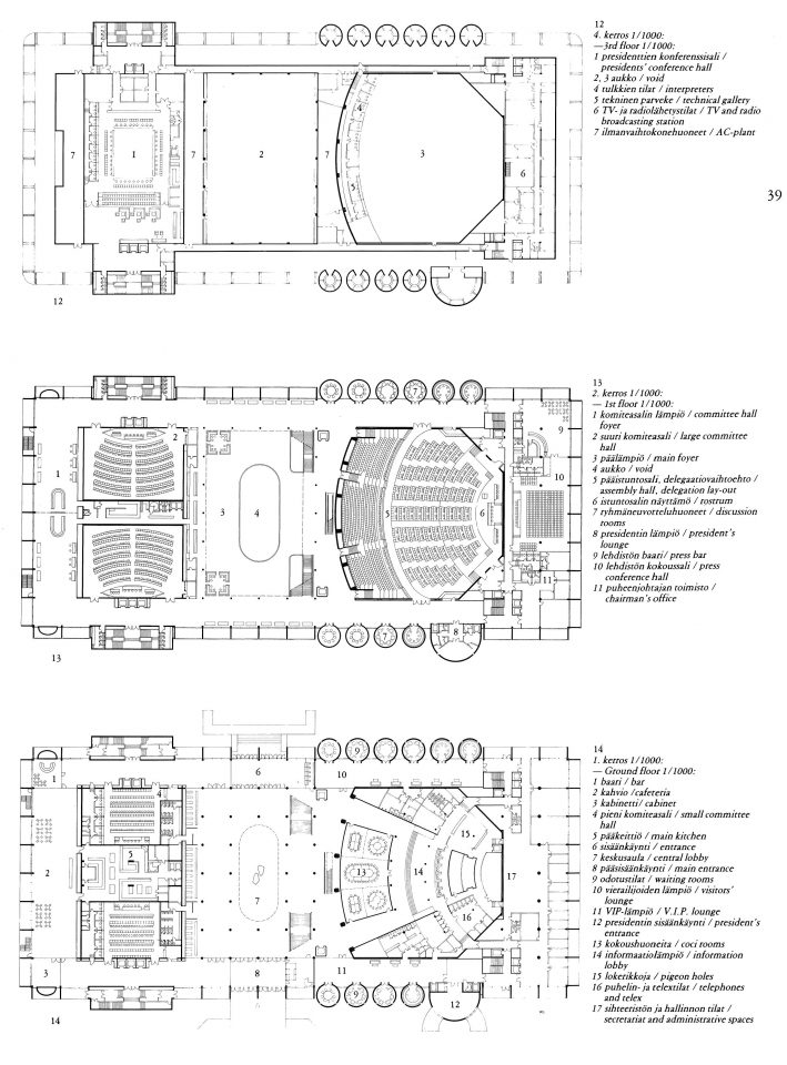 Floor plans, Baghdad Conference Palace
