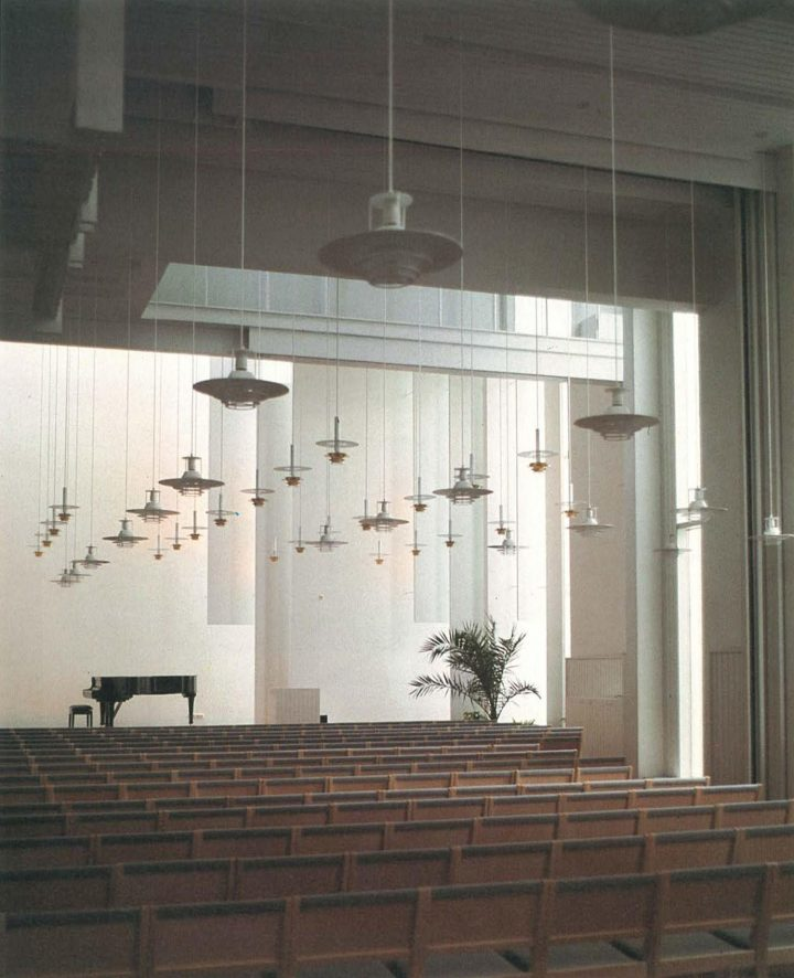 Interior of the main parish hall, Kirkkonummi Parish Centre