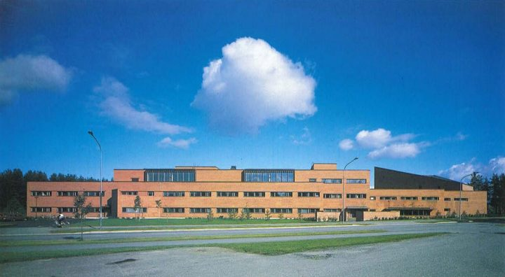 Main building, elevation to Yliopistokatu, University of Joensuu