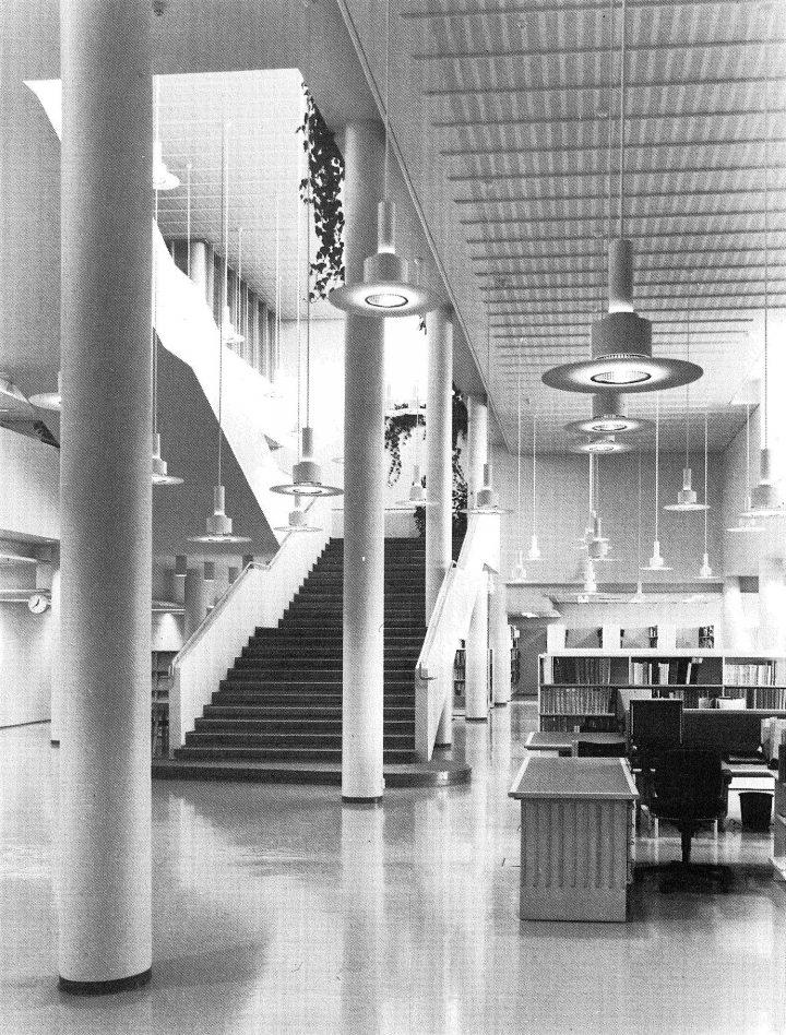Main building, library hall, University of Joensuu