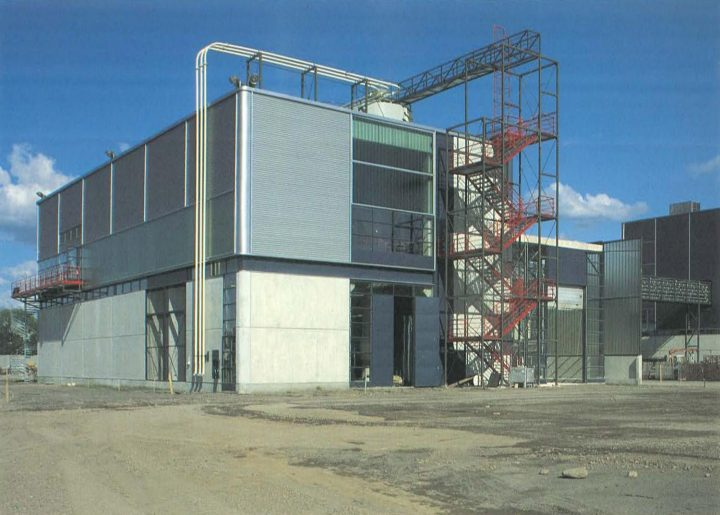 End elevation, Varkaus Paper Mill Additives Processing Unit