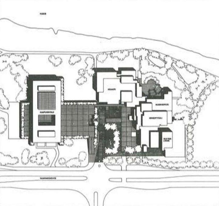 Site plan, Imatra Cultural Centre