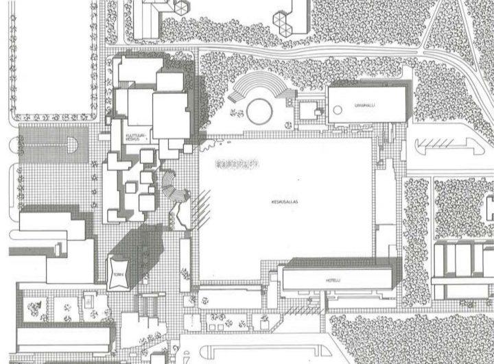 Site plan, Espoo Cultural Centre