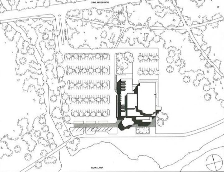 Site plan, Concert and Congress Hall Mikaeli