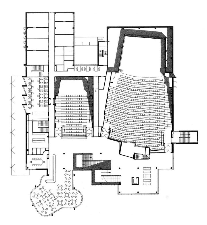 Floor plan of the 1st floor, Concert and Congress Hall Mikaeli
