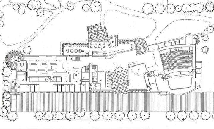 and floor plan, Poleeni Cultural Centre