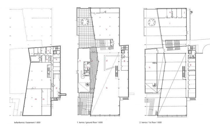 Floor plans, Porvoo City Library