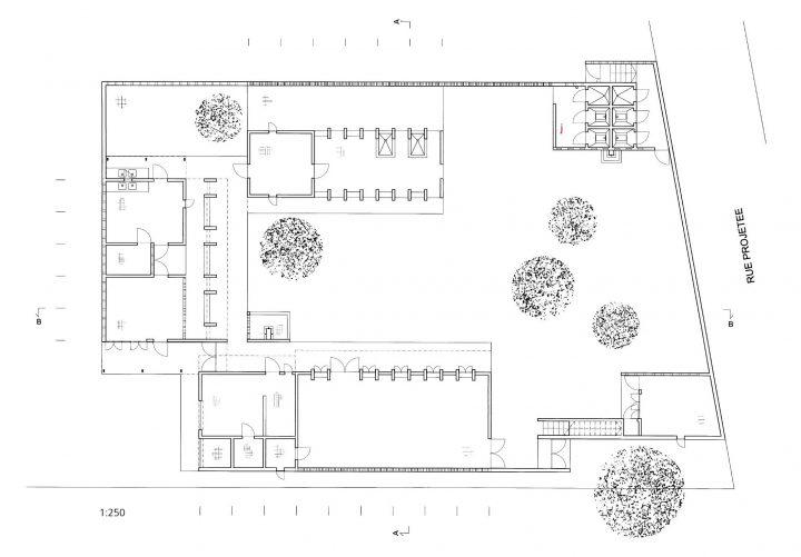 Site plan, Women's Centre
