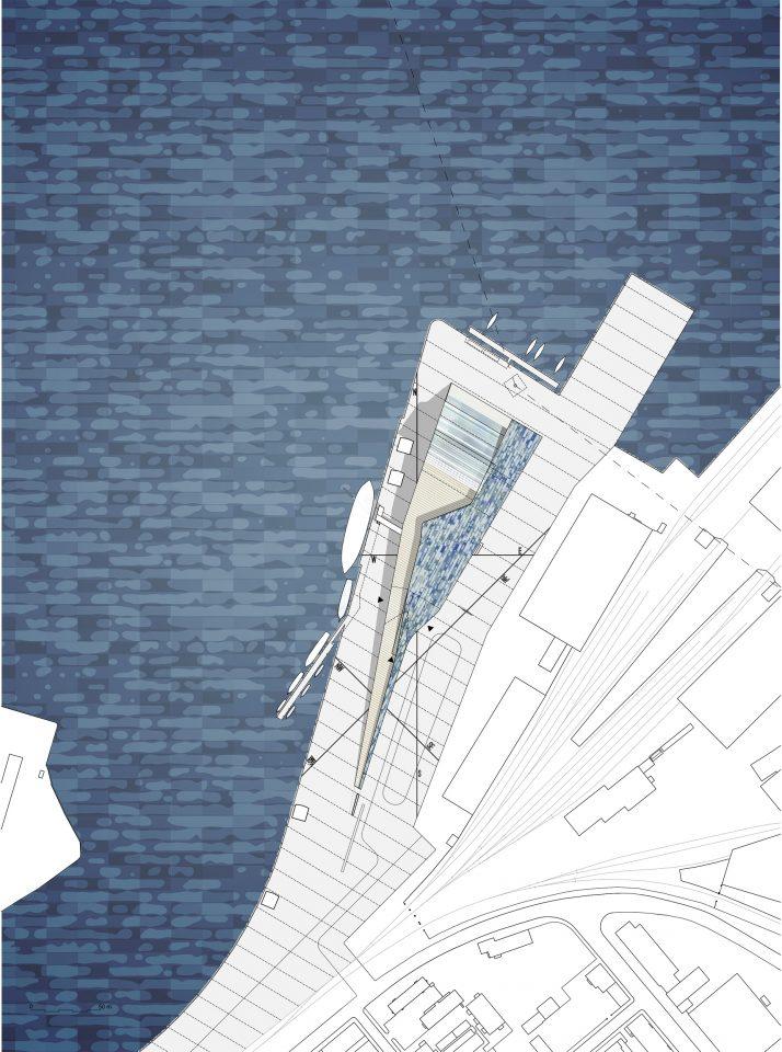 Site plan, Maritime Centre Vellamo