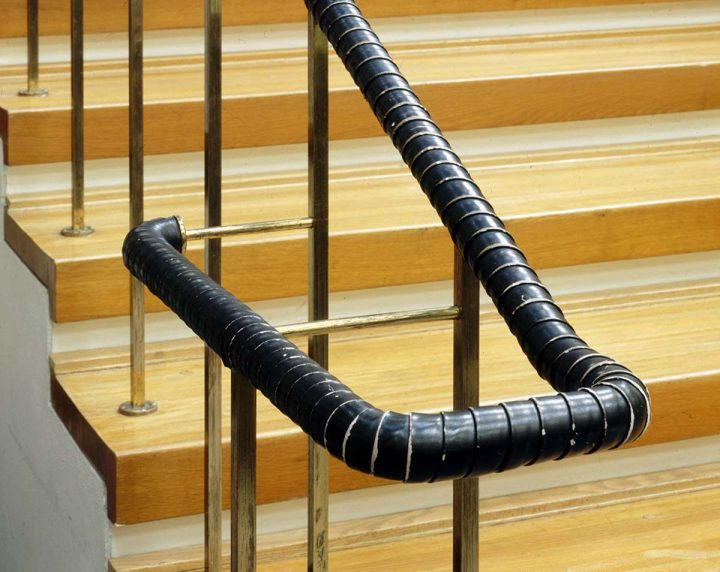 Detail of railing in 1997, National Pensions Institute