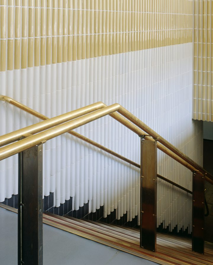 Ceramic tiles and railing in 1997, National Pensions Institute
