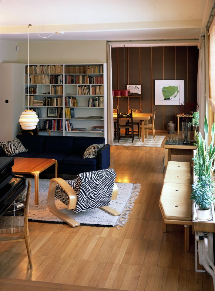 Living room and dining room, The Aalto House