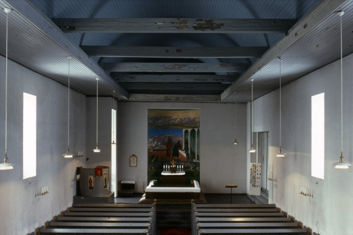 Church interior in 1978, Muurame Church