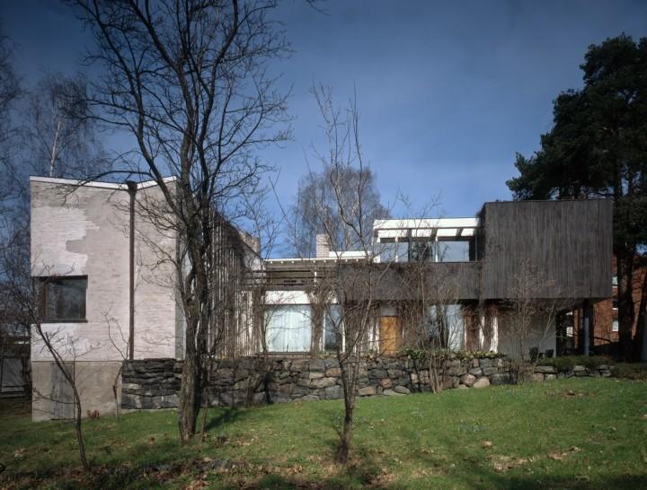 Courtyard façade, The Aalto House