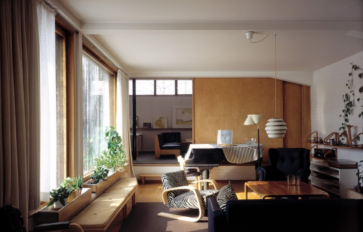 From living room to the studio, The Aalto House