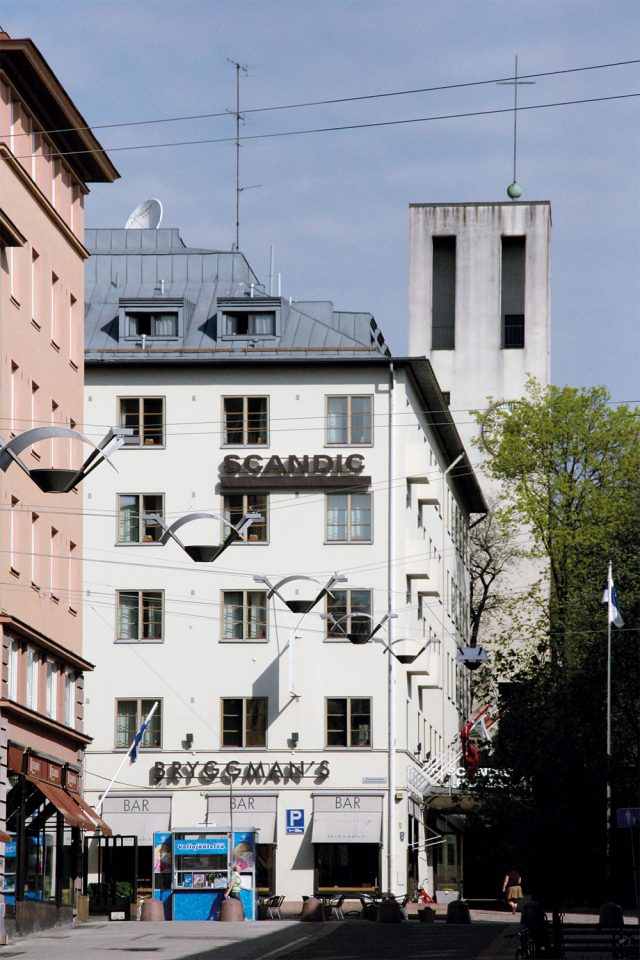 View from the direction of Kristiinankatu street, Hospitz Betel
