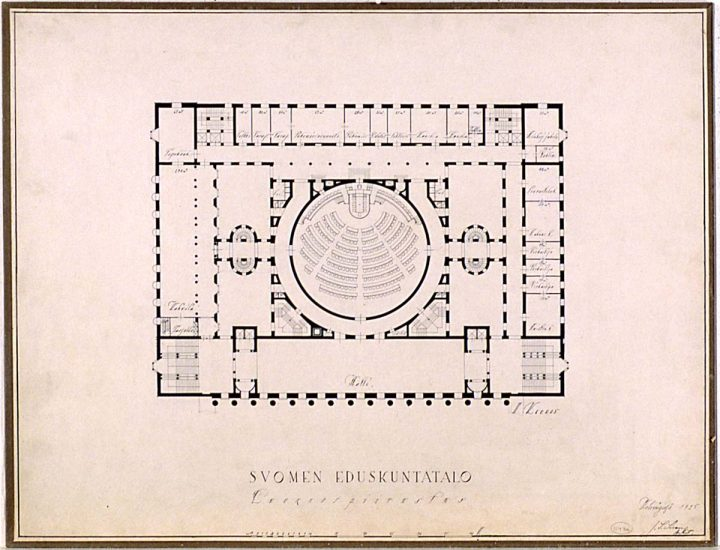 1st floor plan (1925), Parliament House