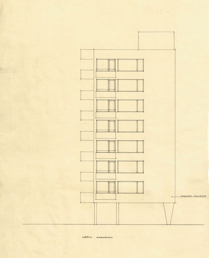 Original drawing , Carenia & Linnankatu 8 Housing
