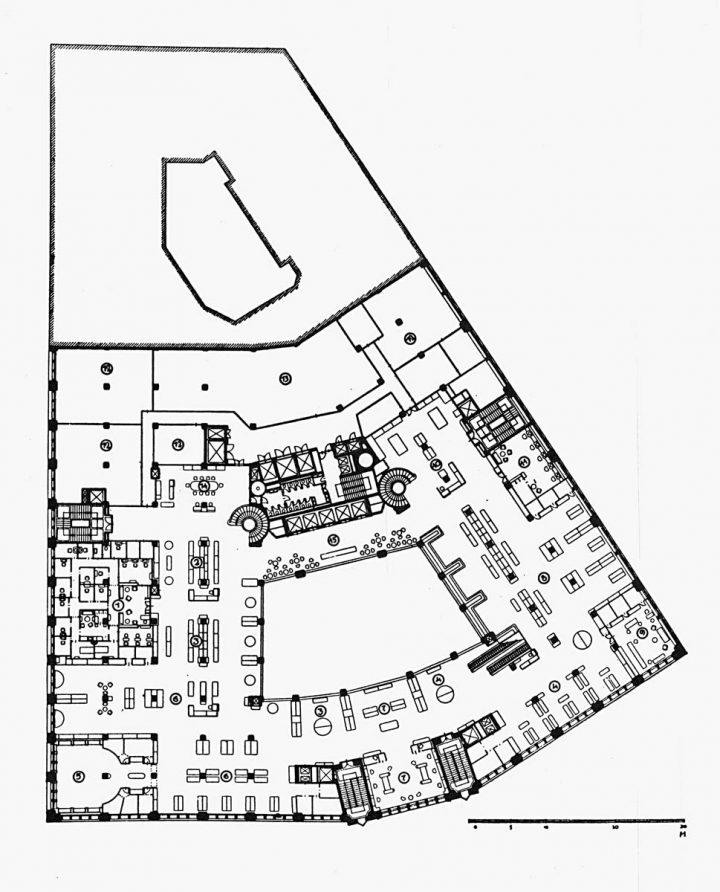 Upper floor plan., Stockmann Department Store