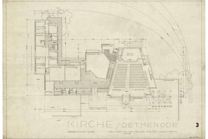 Ground plan, Detmerode Church and Parish Centre