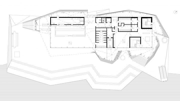 Floor plan, Löyly public sauna and restaurant