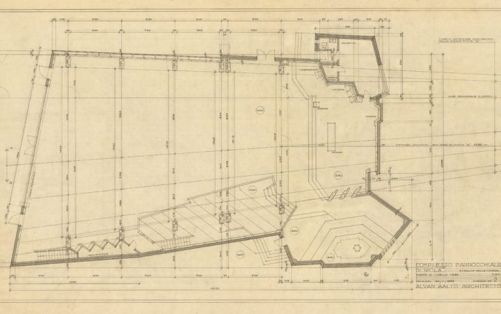 Ground plan, Riola Church and Parish Centre