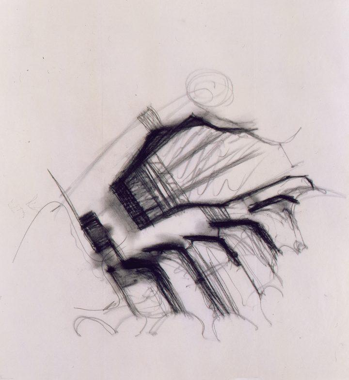 Reima Pietilä's sketch, Kaleva Church