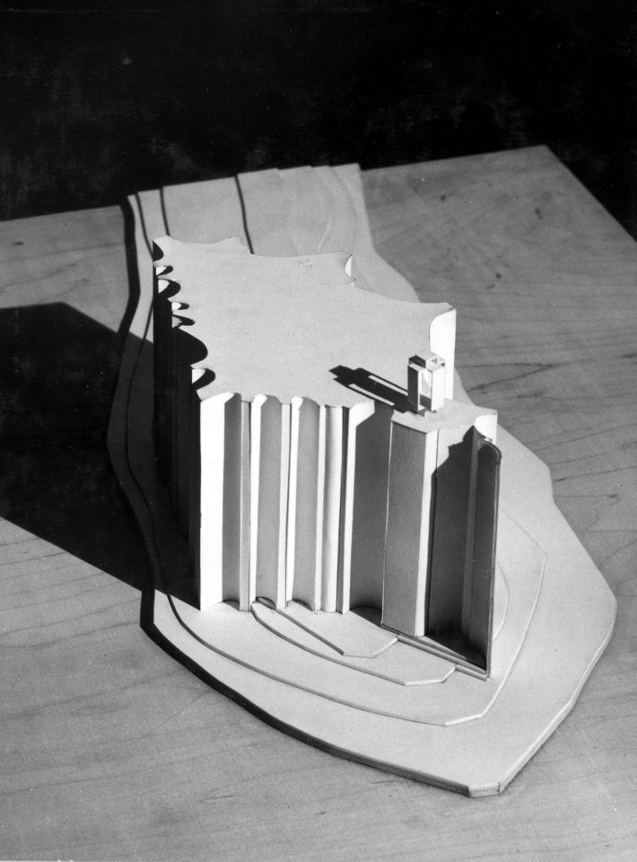 Model of the competition entry, Kaleva Church