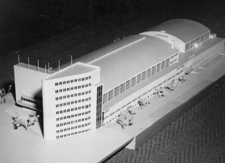Scale model, Töölö Sports Hall (former Expo Hall)