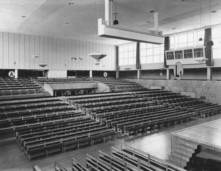 Photo from 1935, Töölö Sports Hall (former Expo Hall)