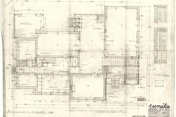 Ground plan, Kantola House