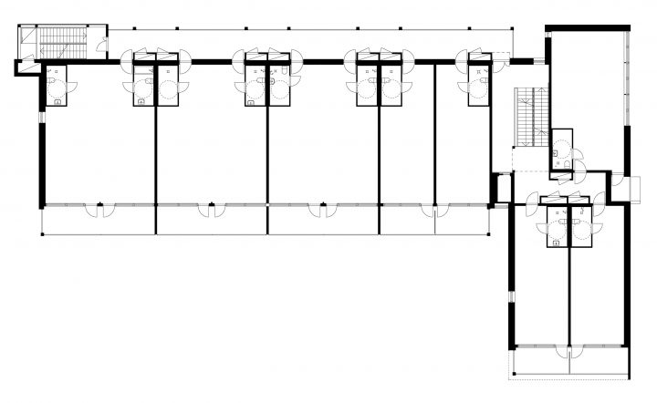 2nd floor plan as raw space, Tila Loft Housing