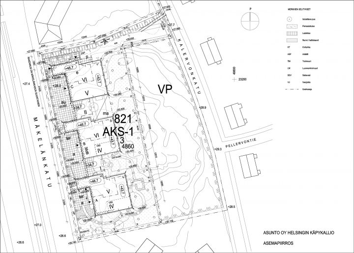 Site plan, Käpykallio Housing