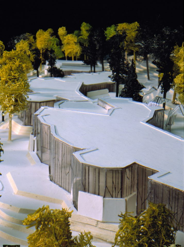 Model of the competition entry, Mäntyniemi, Residence of the President of Finland