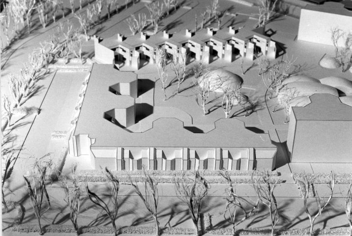 Model of the competition entry., Malminkartano Experimental Housing