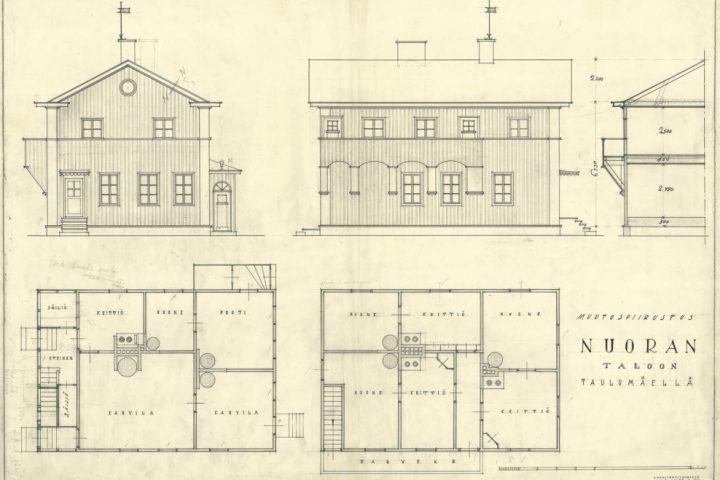 Ground plans and elevations, Nuora Building (alterations)