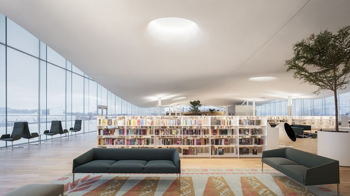 Top floor library hall, Helsinki Central Library Oodi