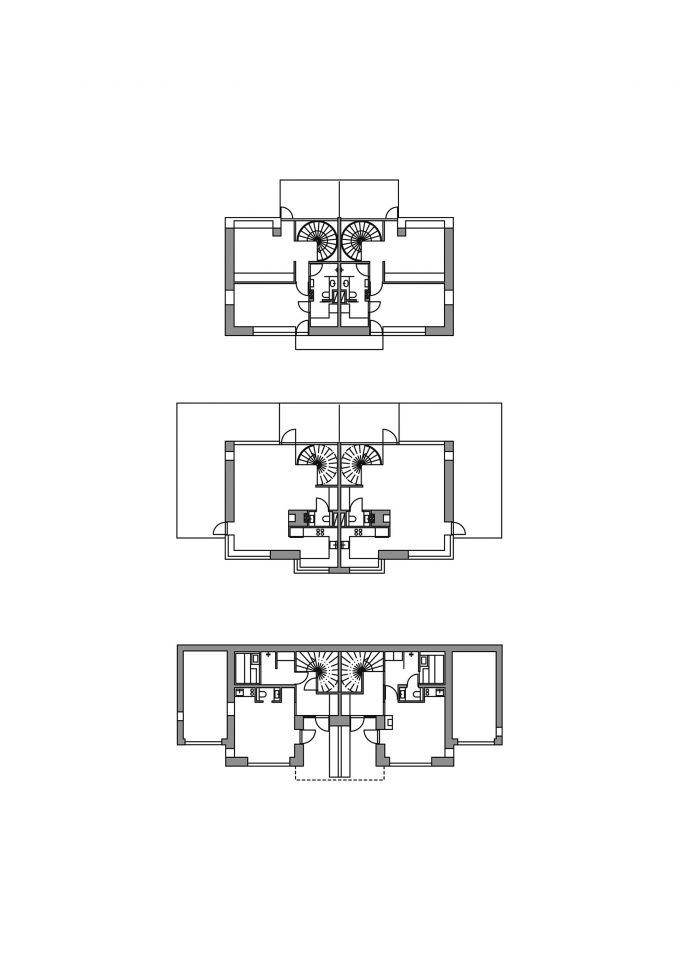 Floor plans, Kellokas Semi-detached House