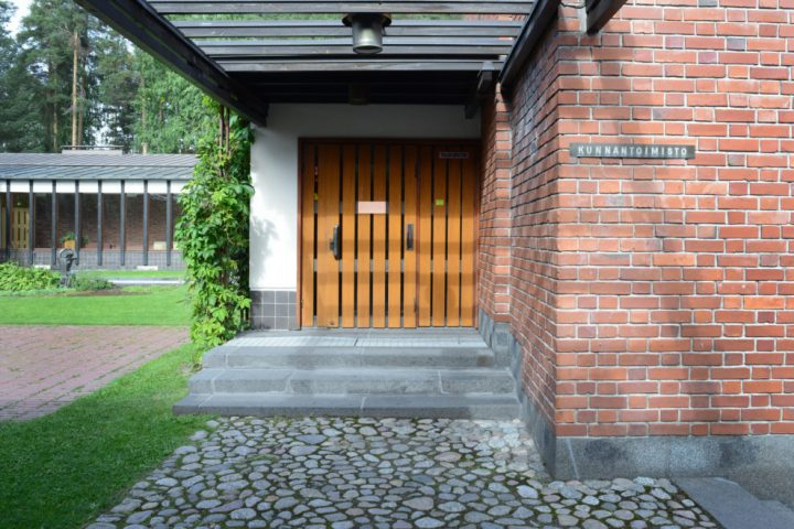 Main entrance, Säynätsalo Town Hall
