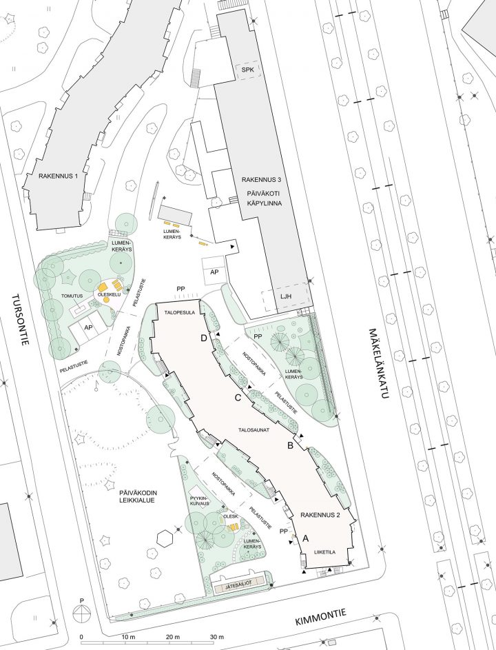 The site plan, Serpentine House
