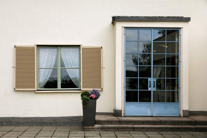 Door to the garden., Villa Solin