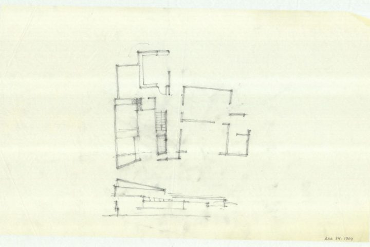 Sketch drawing, Villa Skeppet